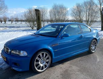BMW E46 M3 Laguna Seca blauw 2002